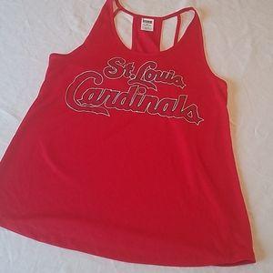 PINK St. Louis Cardinals Baseball MLB Tank sz L